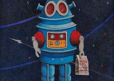 Robot with Happy Meal